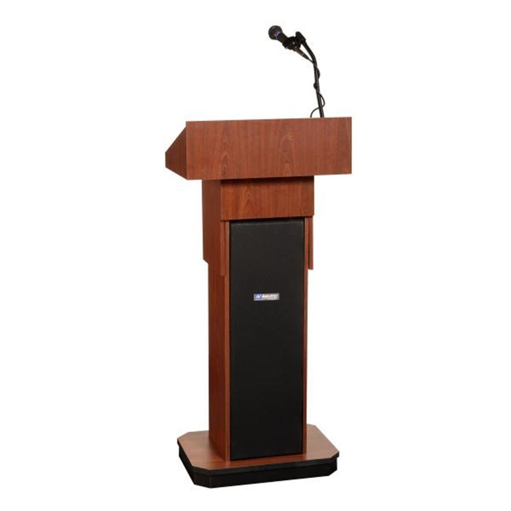 Adjustable Height Executive Sound Column Full Floor Lectern