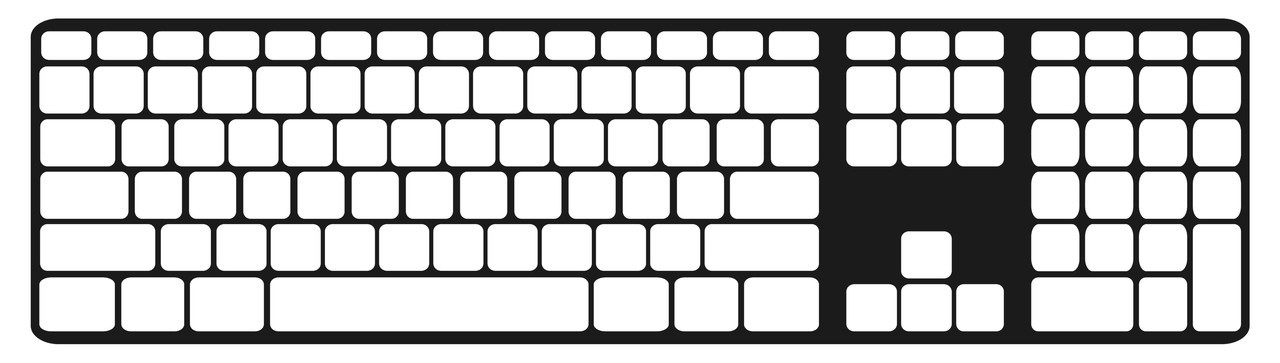 Apple Extended Keyboard Keyguard