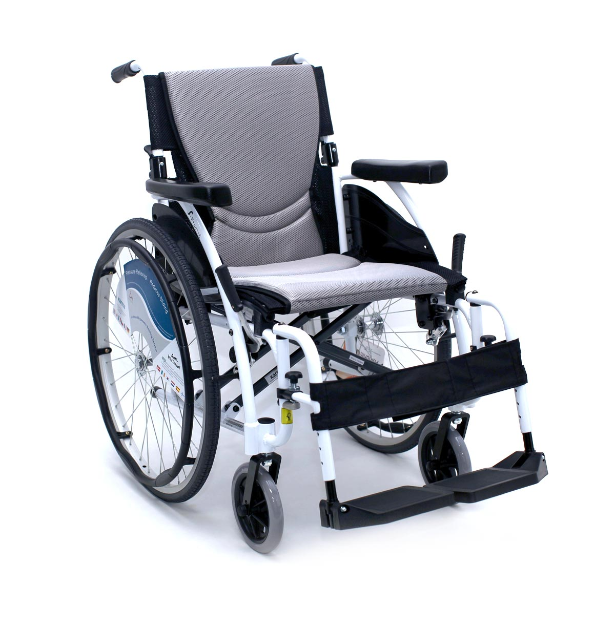 S-Ergo Alpine White – 25 lbs Ultralight White Wheelchair K0004