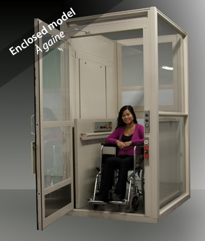 Multilift Vertical Platform Lift- Enclosed model