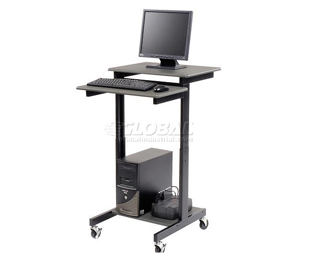 Luxor 3-Shelf Adjustable Height Presentation Workstation