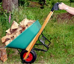 Pivoting Wheelbarrow Handles