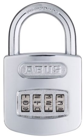 ABUS 160/50 All Weather Chrome 4-Dial Resettable Combination Padlock