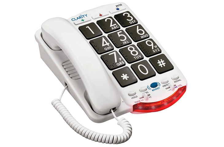 JV35 Amplified Telephone with Talk Back Numbers