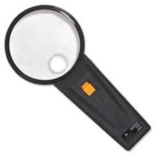 Illuminated Magnifier,Round,2X Main/4X Bifocal