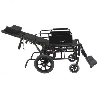 Karman Ultralight Reclining Wheelchair- reclined all the way back