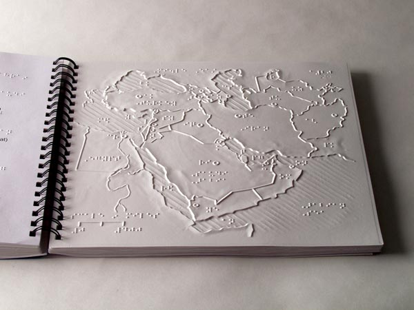 Braille Tactile World Map and 5 Continent Maps