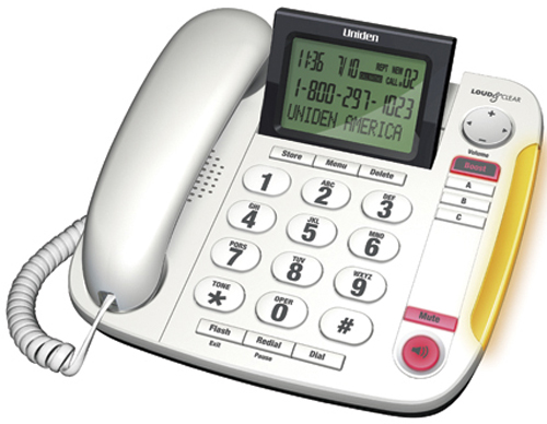Uniden Large Button Caller ID Phone with 40db Handset Volume