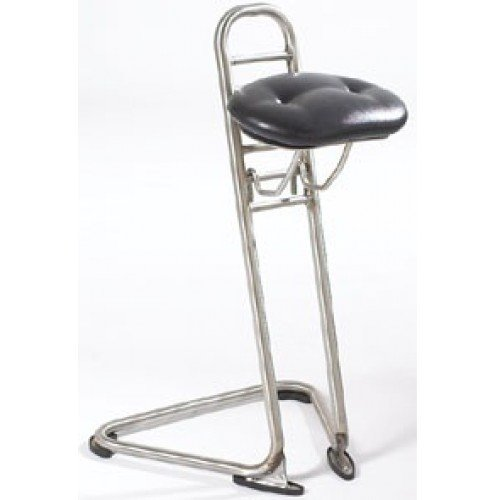 Industrial Ergonomic Stainless Steel Sit Stand Stool