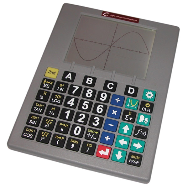 Low Vision Talking Scientific Graphing Calculator-English-Spanish