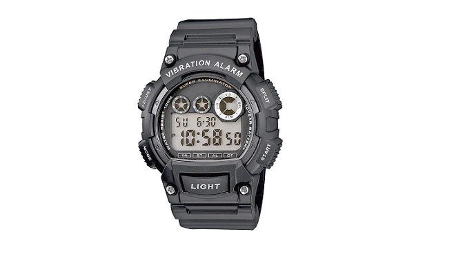 Designer Sports Vibration Watch-Flash Alert-Black