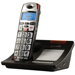 Serene HD 55dB Amplified Talking Cordless Big Button Phone with LCD