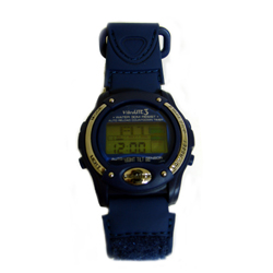 VibraLITE 3 Two Alarm Vibrating Watch w/ Blue Canvas Design