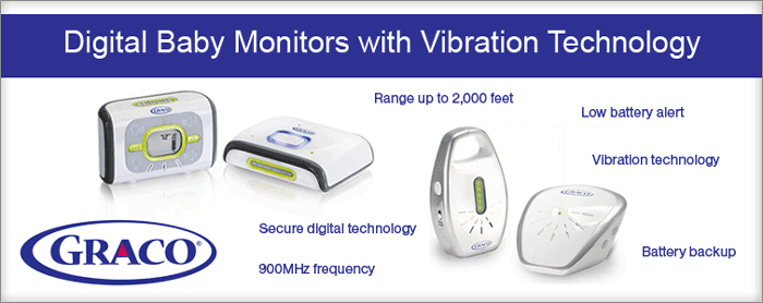 Graco Digital Baby Monitors with Vibration Technology