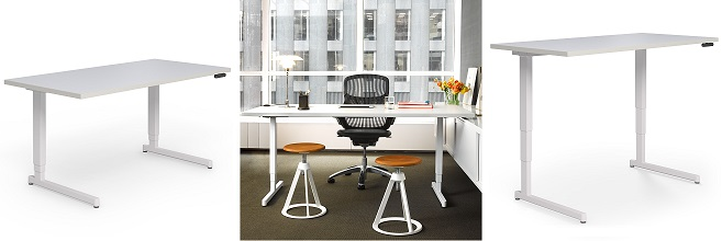 Pixel™ Electric Height Adjustable C-Leg Desk