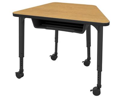 Apex Series Trapezoid Student Desk with cubby