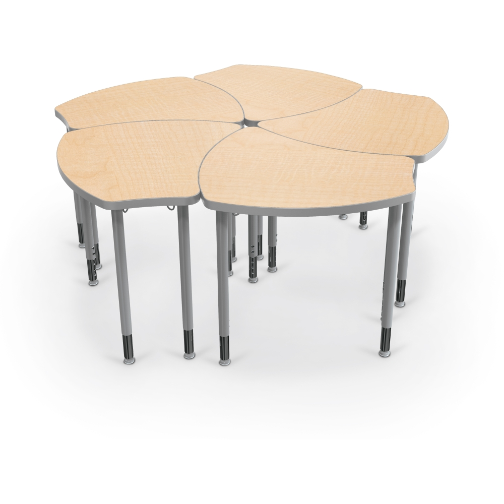 Collaborative Student Desks ~ Shapes collaborative student desk flower grouping