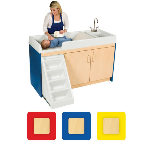 Toddler Walk Up Changing Center - Right Sink