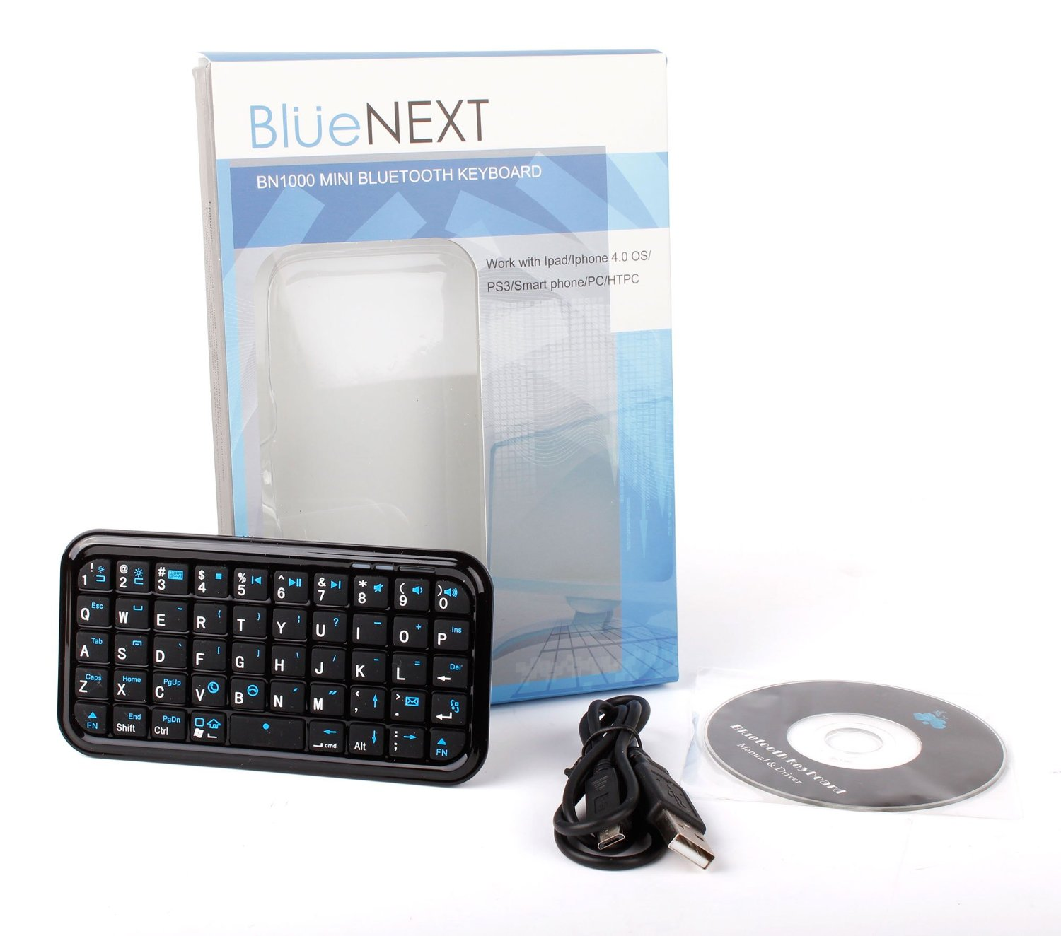 DURAGADGET Slim Portable Miniature Bluetooth Keyboard
