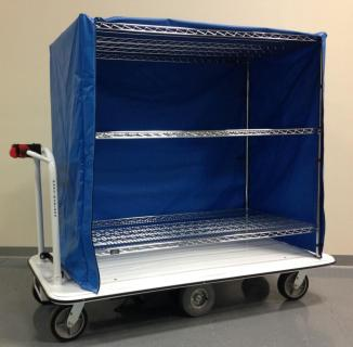 Motorized Linen Cart MCSC-1772-246015-60 1500 Lb