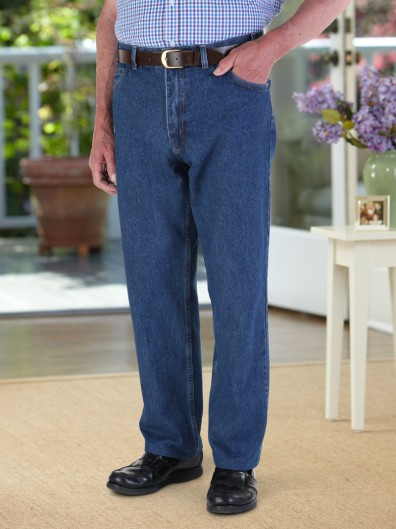 5 Pocket Jeans with Velcro Fastener Fly