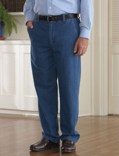 Denim Putter Pants (S-2X) with Velcro Fastener Fly