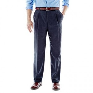 Pleated Front Pants, blue