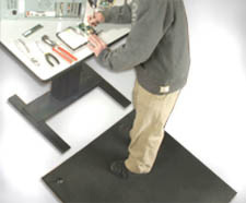 ESD Anti-Fatigue Floor Mat in use at a computer desk