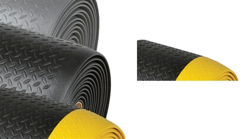 419 Diamond Sof-Tred Mat with Dyna-Shield 4' x 60' Black/Yellow
