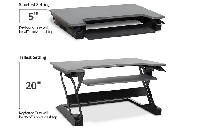 WorkFit-T, Sit-Stand Desktop Workstation