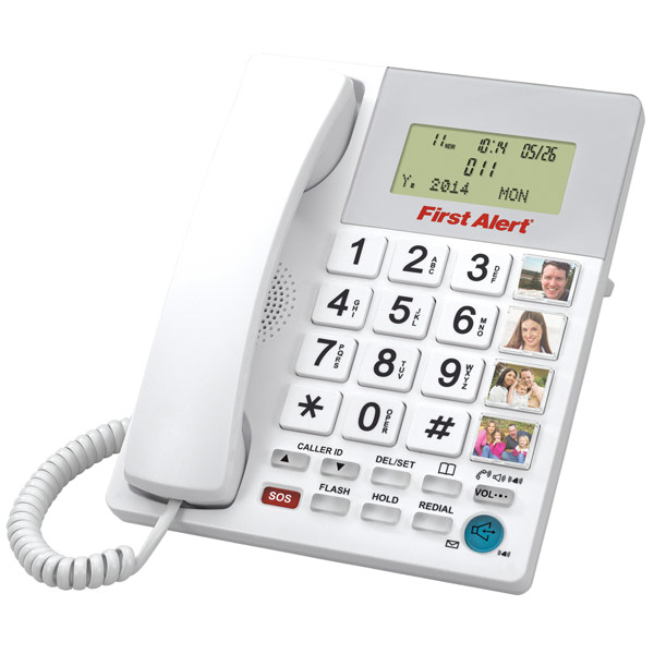 First Alert Big Button Telephone with Emergency Key