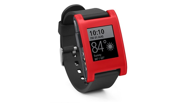 Pebble Classic Red Smart Watch with Silicone Watchband