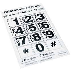 Telephone Stickers - Black on White