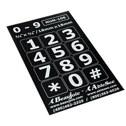 Telephone Stickers - White on Black