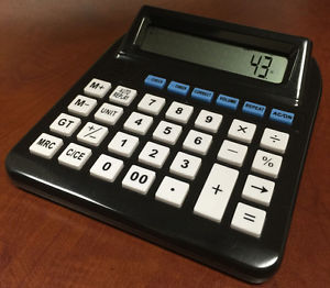 Big Button LCD Talking Calculator With Function Replay