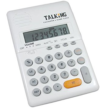 Handheld Talking Calculator with Alarm