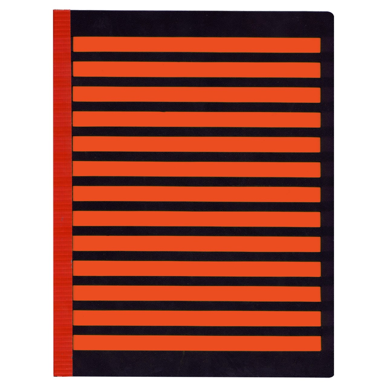 Full Page Fold-Over Writing Guide - Black-Orange