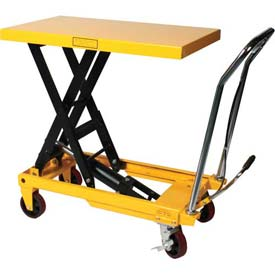 Wesco Mobile Heavy Duty Scissor Lift Table 272973 2200 Lb. Capacity