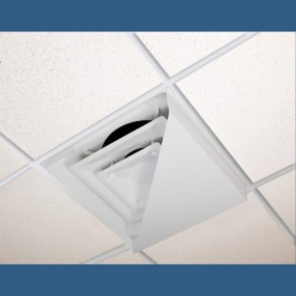 Corner Air Diverter for 2'x2' Ceiling Diffuser