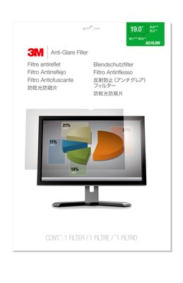 AG19.0W Anti-Glare Filter for Widescreen Desktop LCD Monitor 19""