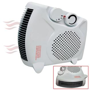 Comfort Zone Floor / Upright 1500W Compact Portable Electric Space Heater & Fan