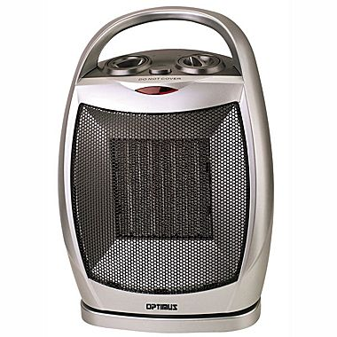 Optimus H-7247 1500 W Portable Oscillating Ceramic Heater With Thermostat
