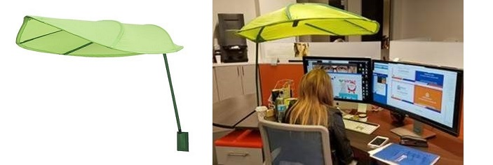 Green Leaf shade used in an office setting