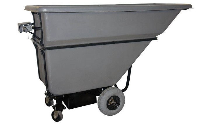 WasteCaddy Motorized Dump Hopper – Dumpster Movers