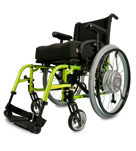 Xtender on a wheelchair