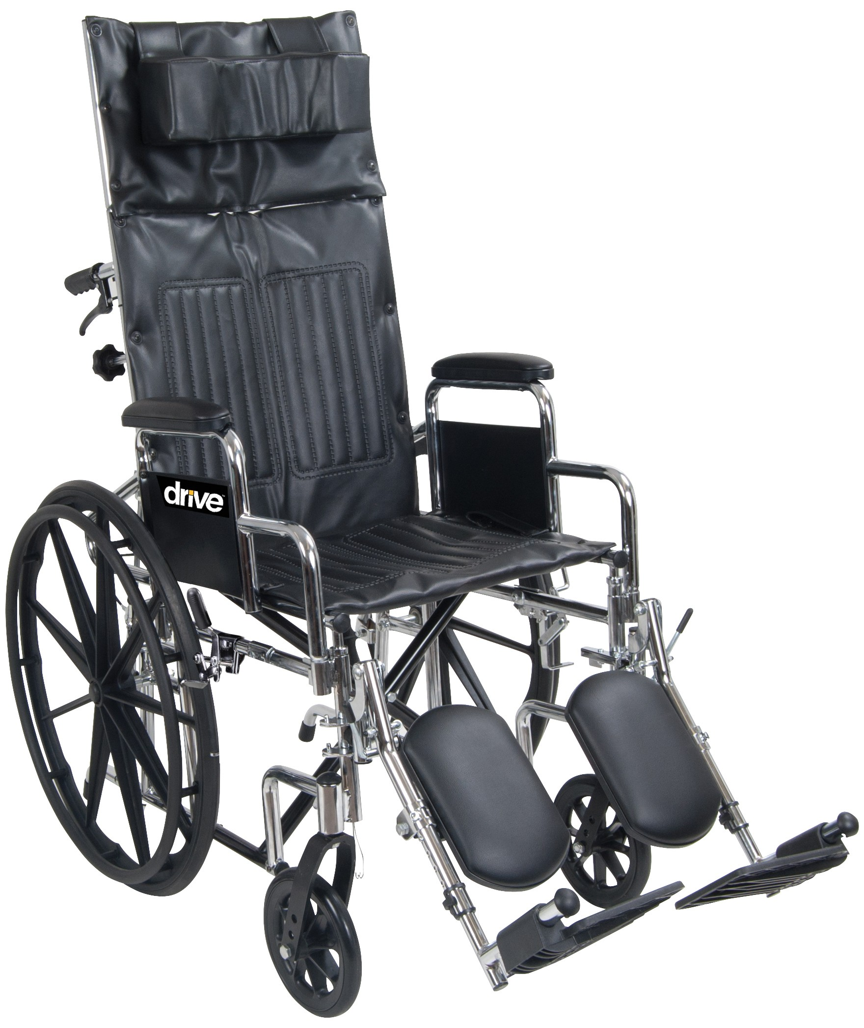 Chrome Sport Full-Reclining Wheelchair   0 0 0 0 Chrome Sport Full-Reclining Wheelchair