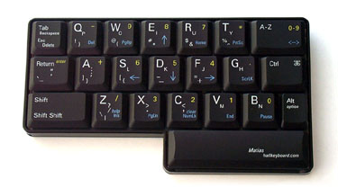 Half QWERTY One-Handed Keyboard