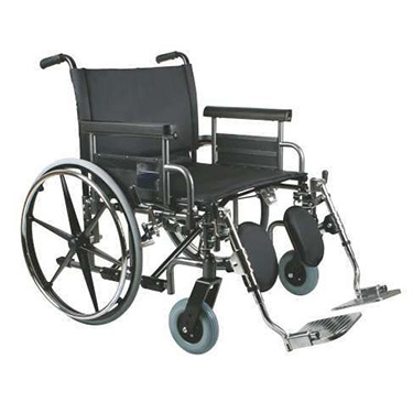 Medline Excel Bariatric Shuttle Wheelchair - 700 lb Weight Capacity