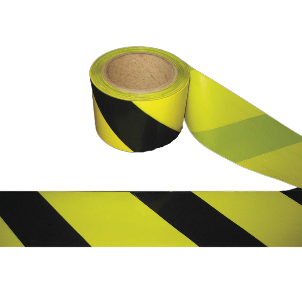 """New Grainger 2 Pack Barricade Tape Yellow//Black 3/""""x1000/' Caution Do Not Enter"""